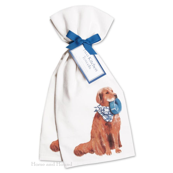 Golden Retriever Kitchen Towels  - Set of 2