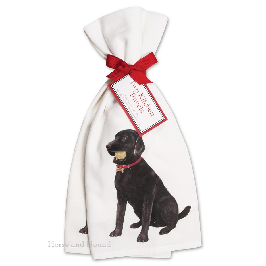 Black Labrador Kitchen Towels  - Set of 2