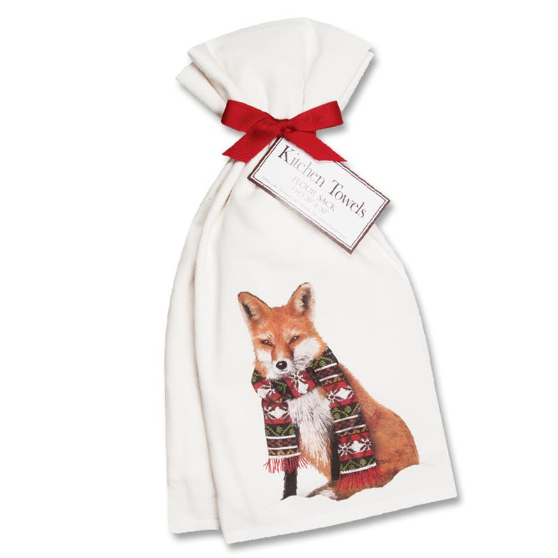 Cozy Fox Kitchen Towels  - Set of 2