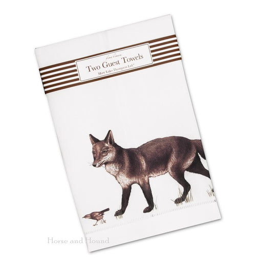 Walking Fox Linen Guest Towels  - Set of 2