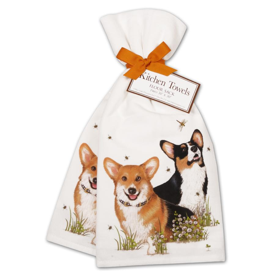 Corgi Pals Kitchen Towels - Set of 2