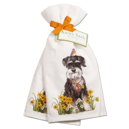 Garden Schnauzer Kitchen Towels - Set of 2
