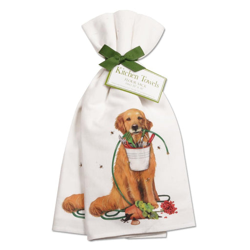 Golden Retreiver Gardener Kitchen Towels - Set of 2
