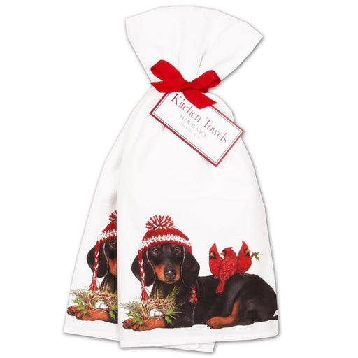 Winter Dachshund Kitchen Towels - Set of 2