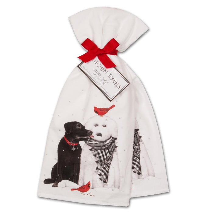 Black Lab & Snowdog Kitchen Towels - Set of 2