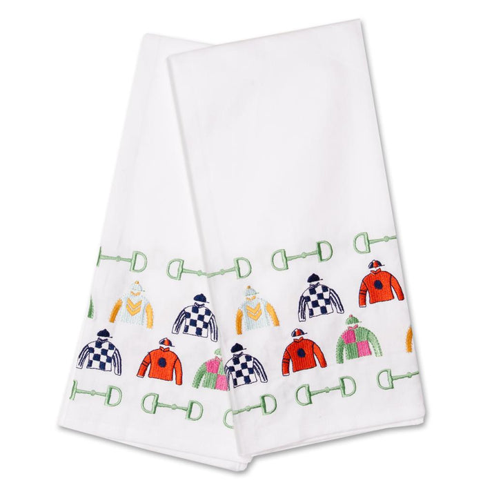Pick Six Racing Silks Embroidered Hand Towels - Set of 2