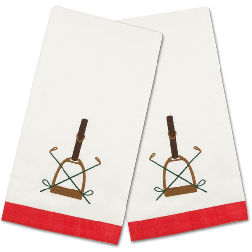 Saddle Up Embroidered Hand Towels - Set of 2
