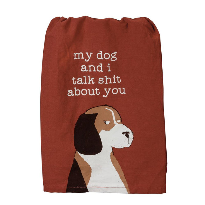 My Dog and I Funny Kitchen Towel