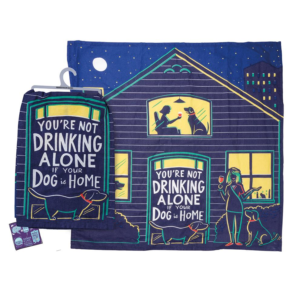 Dog is Home - Funny Kitchen Towel