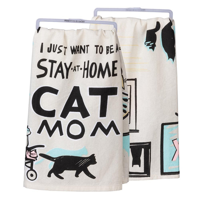 Cat Mom - Funny Kitchen Towel