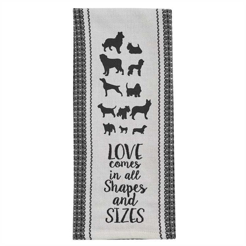 Love Dogs Embrodered Kitchen Towel