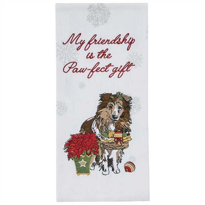 The Paw-Fect Gift Embroidered Christmas Dog Towel