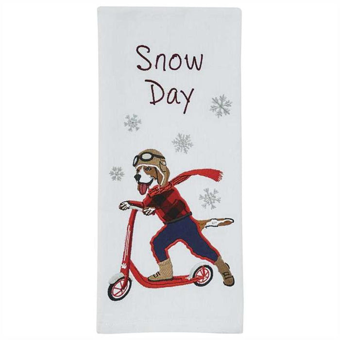 Snow Day Dog Themed Towel