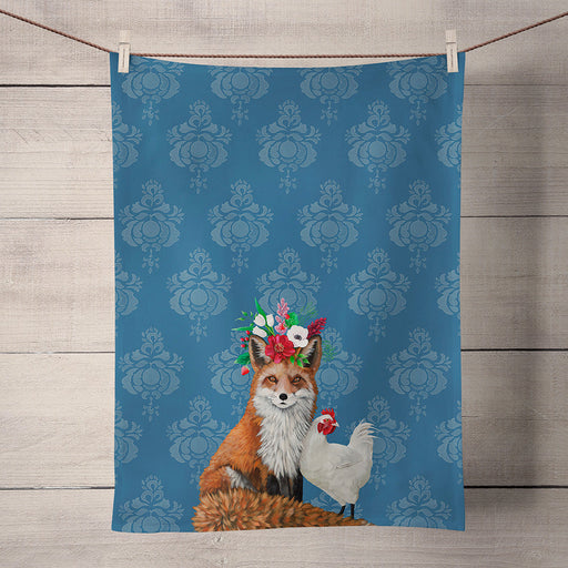 Fox & Hen Holiday Kitchen Towel