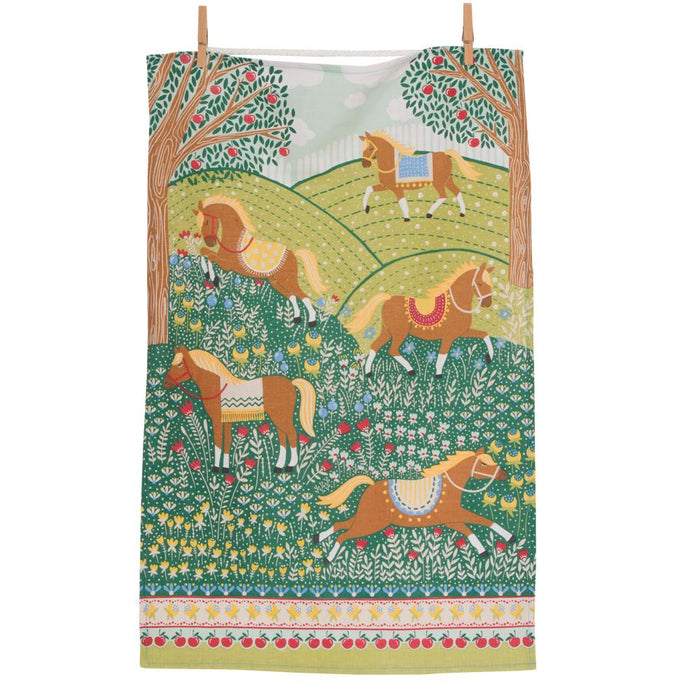 Hills & Tails Horse Kitchen Towel