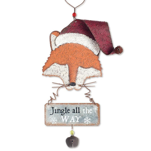 Santa Fox Ornament - Jingle all the Way