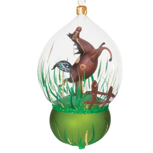 Bay Horse Glass Dome Ornament