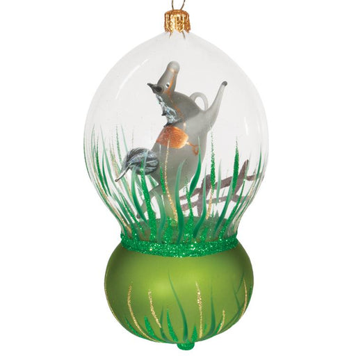 Grey Horse Glass Dome Ornament