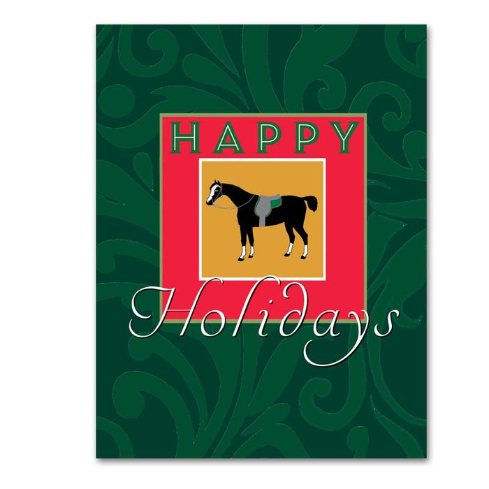 Filigree Horse Christmas Cards