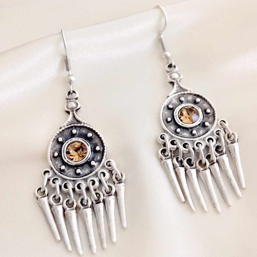 Ava Earrings - Crystal Champayne