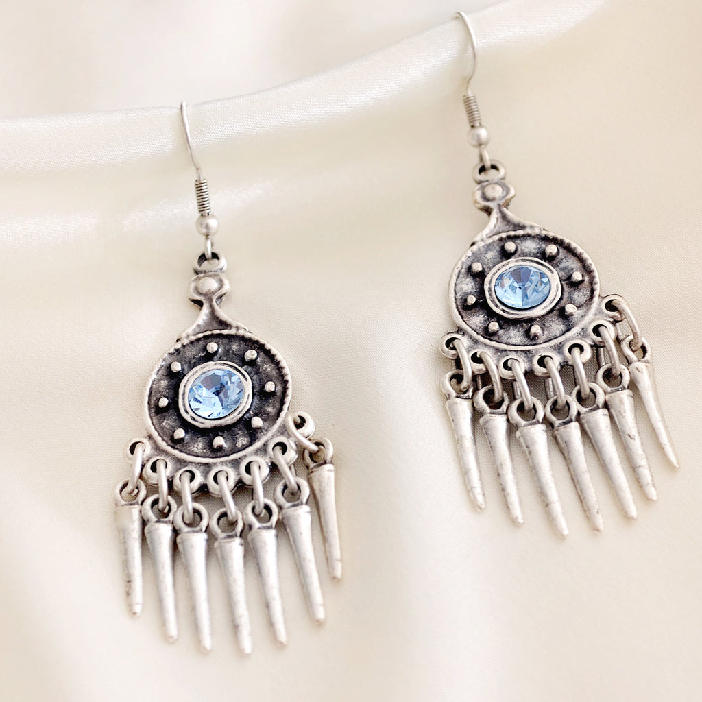 Ava Earrings - Azure Blue