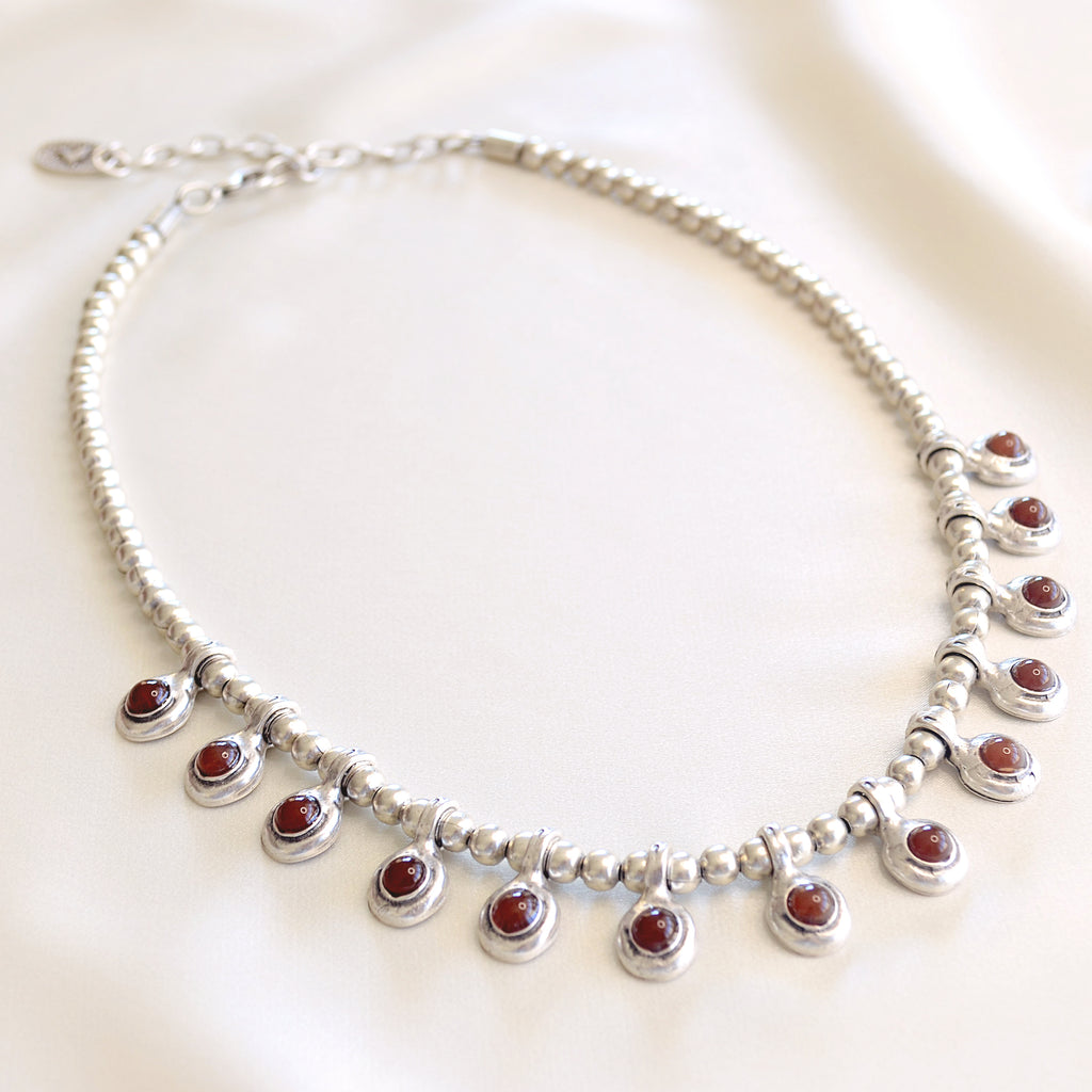 Chelsea Necklace - Red stones