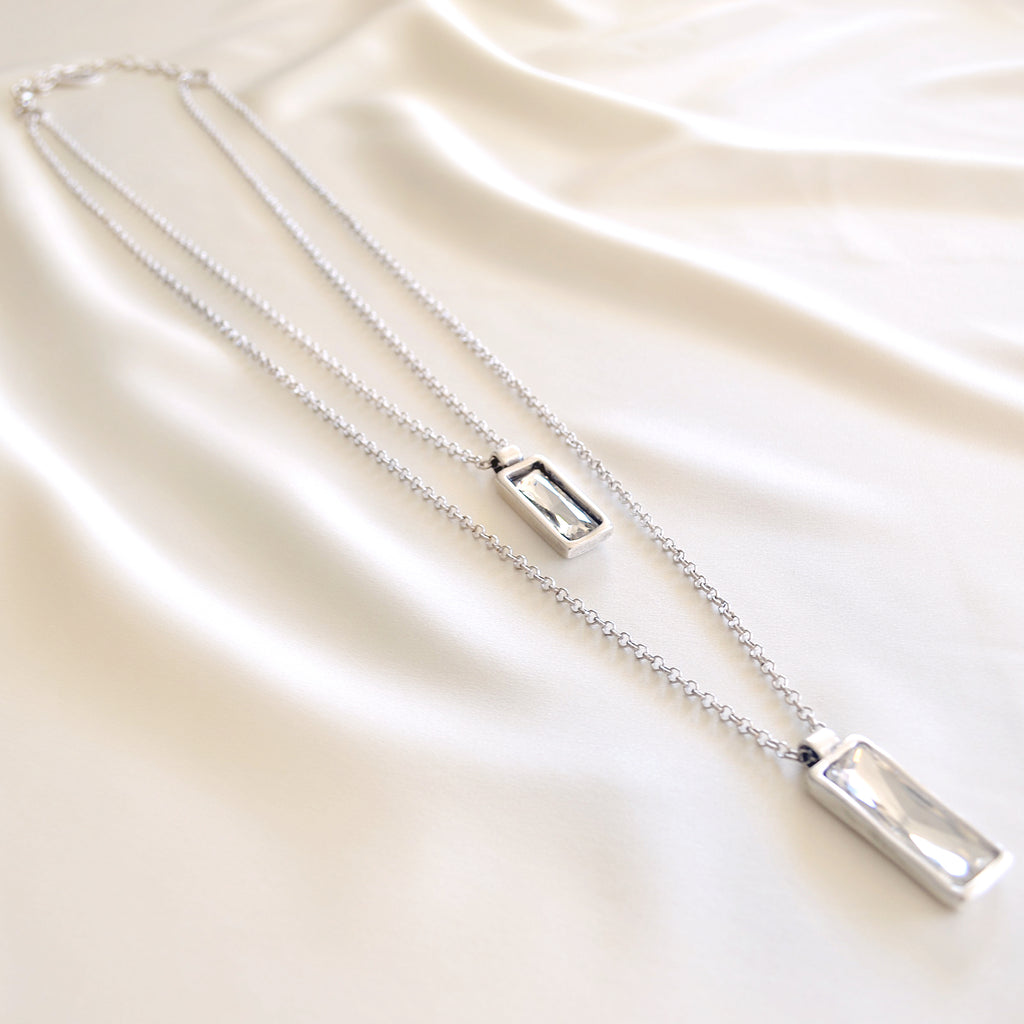 Nina Double Necklace Clear