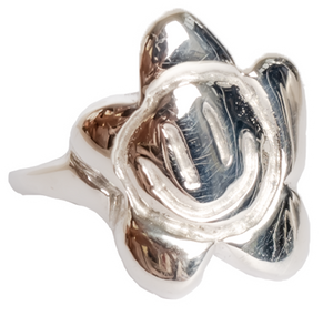 flowerface ring - silver