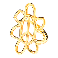 Load image into Gallery viewer, peaceflower ring - solid gold