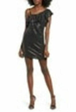 Women Metallic Dot One Shoulder BodyCon - Onetimedealbargain