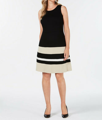 Charter Club Petite Knit Color blocked Women Dress - Onetimedealbargain