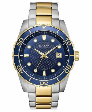Bulova Men's Sport Two-Tone Stainless Steel Bracelet Watch 43mm - Onetimedealbargain