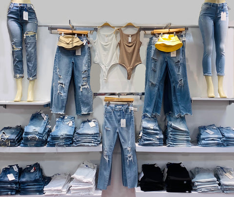 lots of jeans