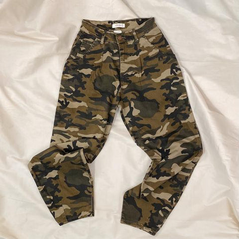 Kenneth Camo High-Rise Jeans