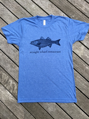 Men's Classic Tee - Navy on Blue