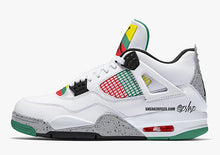 Load image into Gallery viewer, Air Jordan 4 White/University Red-Lucid Green-Black Outlet