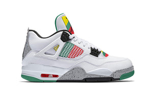 Air Jordan 4 White/University Red-Lucid Green-Black Outlet