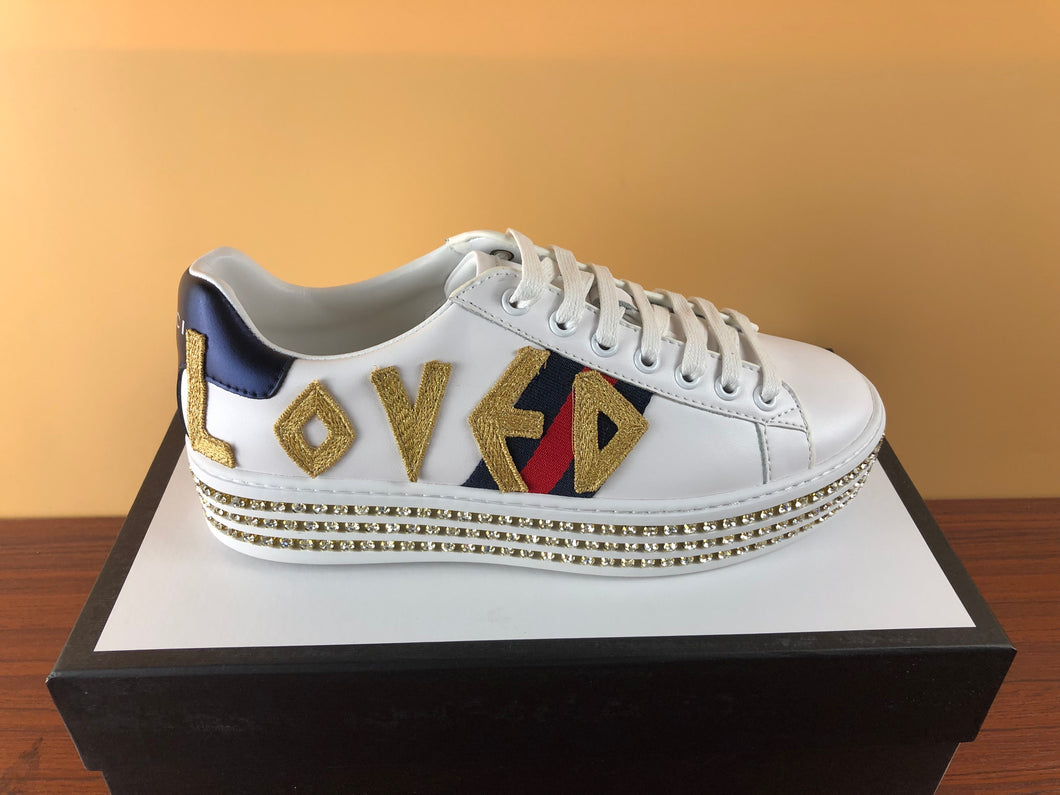 Ace sneaker with crystals
