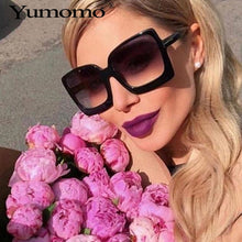 Load image into Gallery viewer, Vintage Oversized Square Sunglasses Women Large Black T Frame Sun Galsses Luxury Brand Designer Shades 2019 Fashion Eyewear