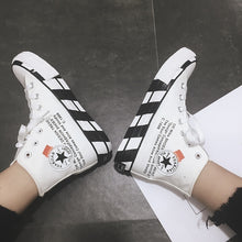 Load image into Gallery viewer, Luxury Shoes Women Designers Fashion Canvas Shoes High Top Sneakers Women Flats Shoes White Black  Casual Shoes Tenis Feminino