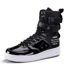 Load image into Gallery viewer, ROMMEDAL Hot Sale Fashion High Top Buckle Lovers Breathable Casual Sneakers zapatillas Personality street style couple shoes