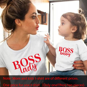 Gourd doll family matching clothes T shirt Women son daughter mum T shirt tops kids baby girl boys casual T shirt