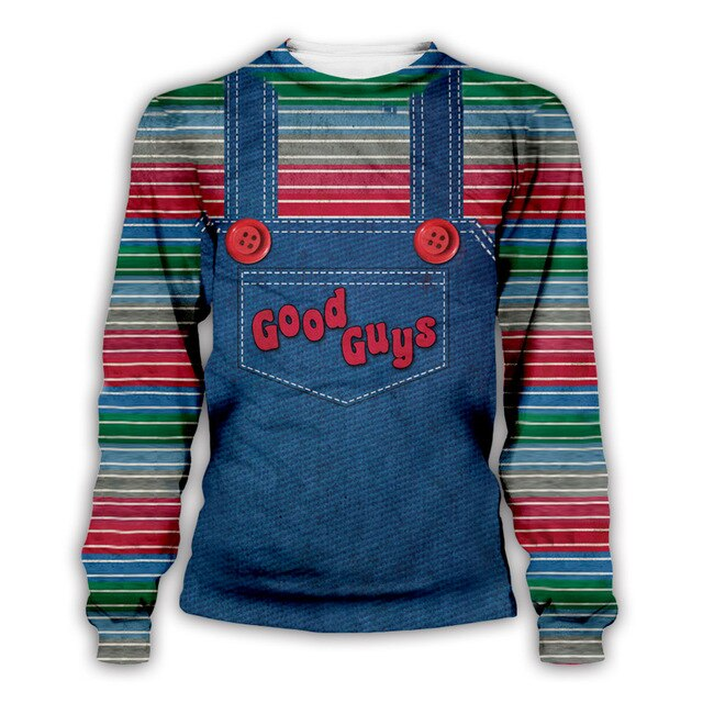 The evil Good Guys toy hoodies men/women halloween Chucky print 3d sweatshirt casual Pullover plus size S-5XL Free shipping