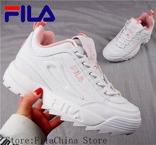 Load image into Gallery viewer, 2019 Fila Disruptor II 2 Women Sneaker Running Shoes White-brown and white summer Increased Outdoor Sneaker