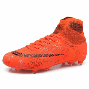 Hot Sale Mens Soccer Cleats High Ankle Football Shoes Long Spikes Outdoor Training Boots Men Women Soccer Shoes Chuteira Futebol