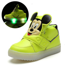 Load image into Gallery viewer, New Luminous Spring Sneaker Children Girls Led Kids Shoes High Female Child Baby Boy Tenis With Light
