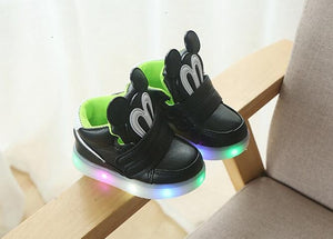New Luminous Spring Sneaker Children Girls Led Kids Shoes High Female Child Baby Boy Tenis With Light