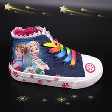 Load image into Gallery viewer, girls frozen elsa anna princess  Sneakers  Princess Kids Shoes Fashion Casual Sport Running Leather Shoes for girls gift
