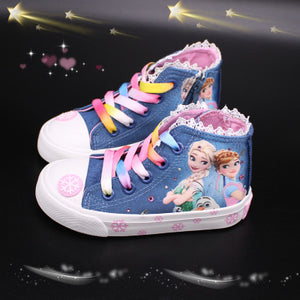girls frozen elsa anna princess  Sneakers  Princess Kids Shoes Fashion Casual Sport Running Leather Shoes for girls gift