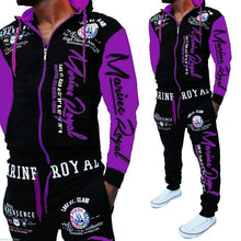 Load image into Gallery viewer, ZOGAA Men Track Suit Hooded Jacket Sweatsuit Mens Sports Suits brand New Sportwear Men Jogger Set Printed Tracksuit Men Clothes